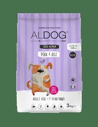 Aldog Pork and rice 3 kg MEDIUM fronte