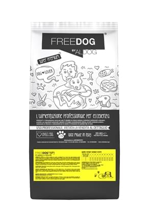 mockup sacco FREEDOG FRONTE puppy