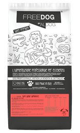 mockup sacco FREEDOG FRONTE puppyjuniorsalmon&rice
